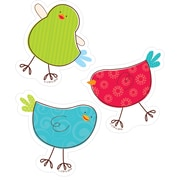 "Creative Teaching Press 3"" Tweeting Birds, Assorted Colors (CTP0830)"