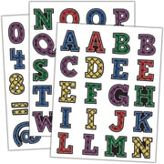Teacher Created Resources Plaid Alphabet Stickers Assorted Colors 120 Stickers Per Pack (TCR5702)