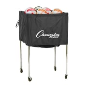 Champion Sports Aluminum Volleyball Cart. Black and Silver, (CHSTWCART)