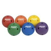 "Champion Sports 6"" Foam Rhino Skin Playground Ball. Assorted Colors, Set of 6 (CHSRSH5SET)"