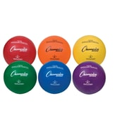 Champion Sports Rubber Volleyball Set. Assorted Colors, Set of 6 (CHSVR4SET)