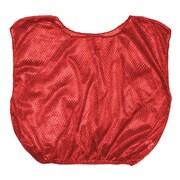 Champion Sports Youth Nylon Micro Mesh Scrimmage Vest. Red, Set of 12 (CHSSVYRD)