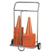 Champion Sports Heavy Gauge, Powder Coated Steel Tubing Equipment Cart. Grey (CHSCSCART)