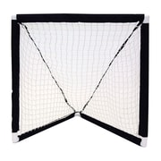 Champion Sport Mini Lacrosse Goal durable ABS and Polyester/Cotton. White and Black, (CHSMLG)