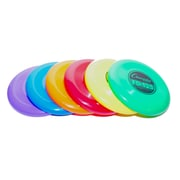 Champion Sports Plastic Frisbee Set. Assorted Colors, 6 Count of 6 Frisbees Per Order, (CHSFD125)