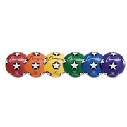 Champion Sports Rubber Cover Size 5 Soccer Ball Set of 6 Balls (CHSSRB5SET)