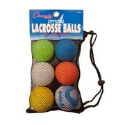 Champion Sports Lacrosse Ball Set, Set of 6 Balls (CHSLBSET)