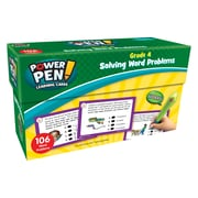Teacher Created Resources Power Pen Learning Cards: Solving Word Problems, Grade 4, 1 Pack (TCR6999)