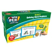 Teacher Created Resources Power Pen Learning Cards: Solving Word Problems, Grade 2, 1 Pack (TCR6990)