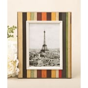 FashionCraft Distressed Wood Look Vertical Striped Picture Frame; 5'' x 7''