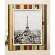 FashionCraft Distressed Wood Look Vertical Striped Picture Frame; 8'' x 10''