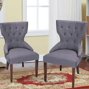 AdecoTrading Fabric Living Room Arm Chair (Set of 2); Gray