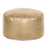 Howard Elliott Foot Pouf Shimmer Ottoman; Gold