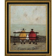 CanvasArtUSA 'Bums On Seat' by Sam Toft Framed Painting Print; 32.5'' H x 27.5'' W x 1.25'' D