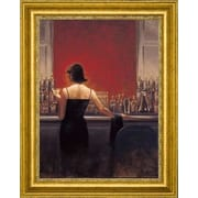 CanvasArtUSA 'Evening Lounge' by Brent Lynch Framed Painting Print; 18'' H x 22'' W x 1.25'' D
