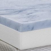 Serenia Sleep 3'' Gel Memory Foam 2 Layer Topper; Twin