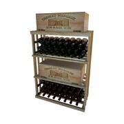 Wine Cellar 1 Column Rectangular 48 Bottle Floor Wine Rack