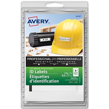 Avery® Grey Border Self-Laminating Labels, 2/3