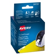 """Avery® White Thermal File Folder Labels, 9/16"""" x 3-7/16"""", 260/Pack, (04155)"""