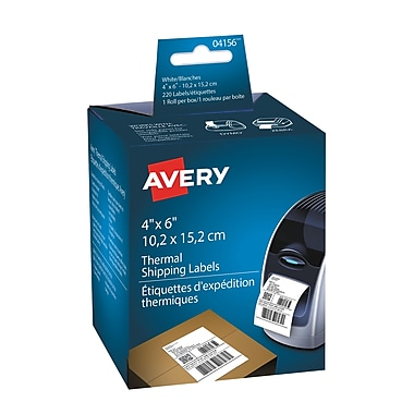 Avery® White Thermal Shipping Labels, 4