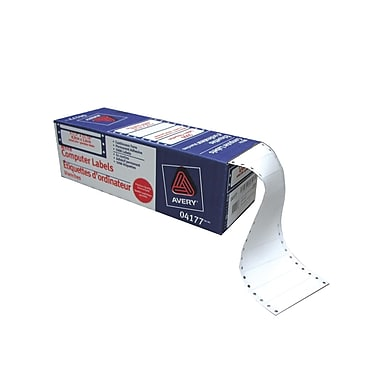 Avery® White Dot Matrix Labels, 3-1/2