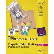 """Avery® White Laser Permanent I.D. Labels, 1-1/2"""" x 1-1/2"""", 600/Pack, (05214)"""