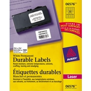 """Avery® White Laser Durable I.D. Labels, 1-3/4"""" x 1-1/4"""", 1,600/Pack, (06576)"""
