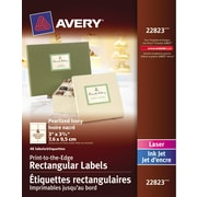 """Avery® Pearlized Ivory Laser/Inkjet Permanent Print-to-the-Edge Rectangular Labels, 3"""" x 3-3/4"""", 48/Pack, (22823)"""