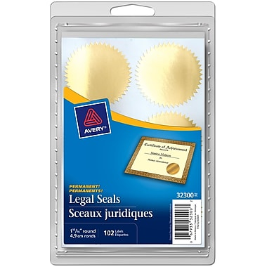 Avery® Gold Legal Seals, 1-15/16