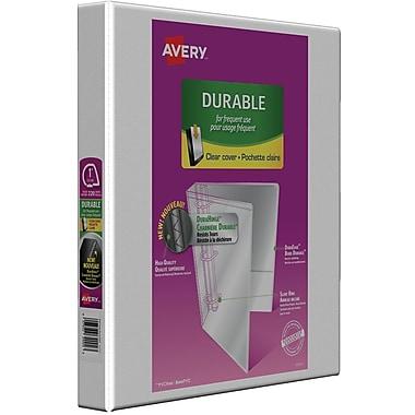 Avery® - Reliure de présentation durable à anneaux obliques en D, 1 po, blanc