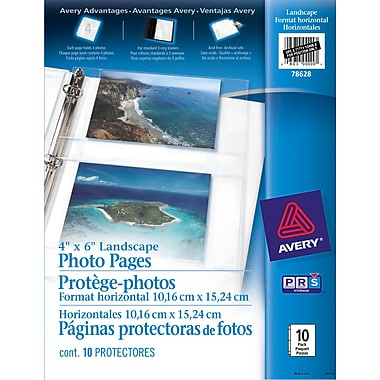 Avery® Photo Pages, Clear, 10/Pack, (78628)