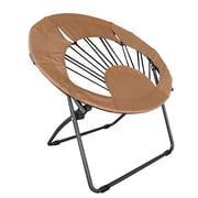 ImpactCanopy Bungee Chair Folding Dorm Lounge Chair; Brown