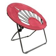 ImpactCanopy Bungee Chair Folding Dorm Lounge Chair; Red