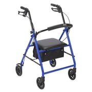 "Rollator with 6"" Wheels, Blue"