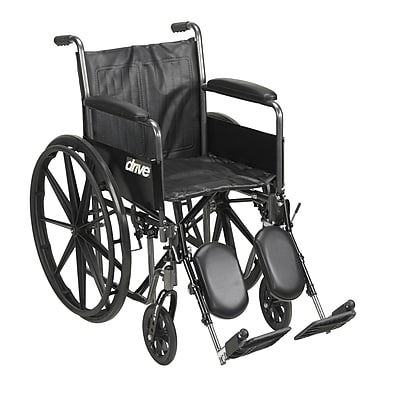 """""Silver Sport 2 Wheelchair, Detachable Full Arms, Elevating Leg Rests, 20"""""""" Seat"""""" 2314072"