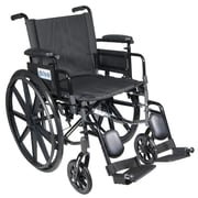 "Cirrus IV Lightweight Dual Axle Wheelchair with Adjustable Arms, Detachable Desk Arms, Elevating Leg Rests, 18"" Seat"