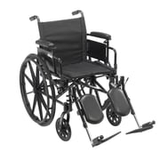 """Cruiser X4 Lightweight Dual Axle Wheelchair with Adjustable Detachable Arms, Desk Arms, Elevating Leg Rests, 16"""" Seat"""