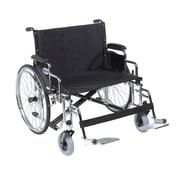 "Sentra EC Heavy Duty Extra Wide Wheelchair, Detachable Desk Arms, Swing away Footrests, 28"" Seat"