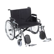 "Sentra EC Heavy Duty Extra Wide Wheelchair, Detachable Desk Arms, Elevating Leg Rests, 26"" Seat"