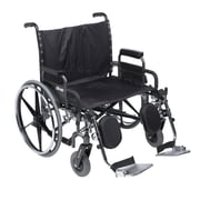 "Sentra Deluxe Heavy Duty Extra Extra Wide Wheelchair With Detachable Desk Arm and Elevating Leg Rests, 30"" Seat"