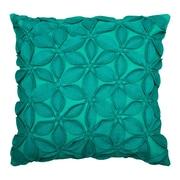 Wildon Home   Deniece Throw Pillow; Teal