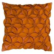 Wildon Home   Deniece Throw Pillow; Orange