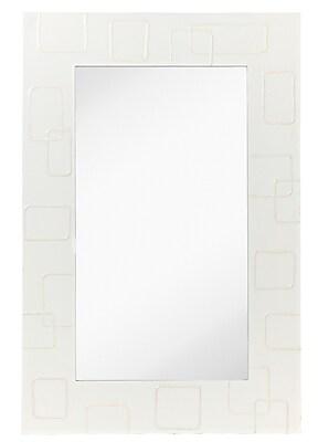 Majestic Mirror Contemporary Accent Mirror w/ White Lacquer Frame WYF078277824605