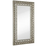 Majestic Mirror Huge Rectangular Silver Leaf w/ Black Rub Beveled Glass Decorative Wall Mirror