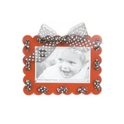 Mishu Designs Ribbon Magnet Picture Frame; Red