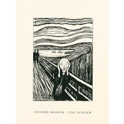 McGaw Graphics The Scream Serigraph by Edvard Munch Painting Print; 14'' H x 11'' W