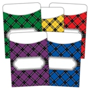 Teacher Created Resources, Plaid Library Pockets Multi Pack, Pack of 35 (TCR5332)