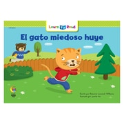 Creative Teaching Press Paperback, El gato miedoso huye (Scaredy Cat Runs Away) Learn to Read Spanish Book(CTP8272)