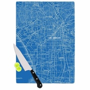 KESS InHouse Los Angeles Streets by Catherine Holcombe Cutting Board; 11'' W x 7.5'' D