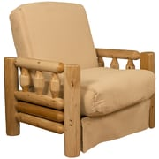 Epic Furnishings LLC Grand Teton Futon Chair; Suede Khaki